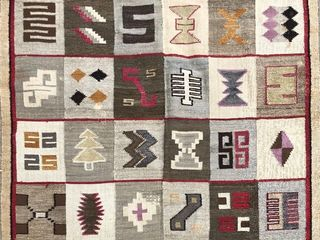 Vintage Southwestern Hand Knotted Wool Rug or Blanket