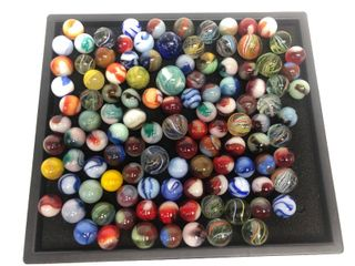 Collection of Early Vintage & Antique Hand Made Marbles