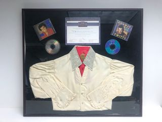 Authentic Framed CONWAY TWITTY Owned Western Style Rhinestone Shirt