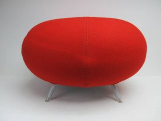 "Quality Large Stuffed Cocktail ""Pebble"" Ottoman Chair by Allermuir"