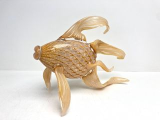 Beautiful Large Hand Blow Art Glass Fish Sculpture