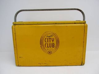 Vintage 1950's SCHMIDT City club Embossed Metal Beer Cooler