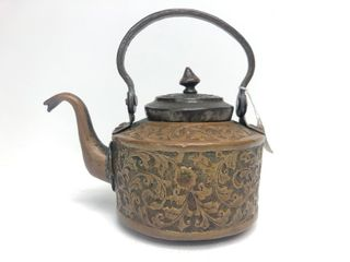 Early Antique 18th Century Syrian Copper Tea Kettle