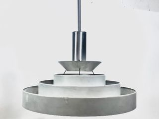 Mid Century 1950's Atomic Style Hanging Aluminum Lamp