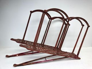 Original 1880's Cast Iron GUIBERT Fire Engine Hose Racks