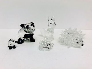 Group of Signed SWAROVSKI Crystal Animal Figurines