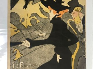 Old Vintage DIVAN JAPONAIS French Advertising Poster by Henri De Toulouse-Lautrec