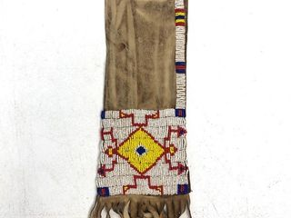 Antique Sioux Native American Beaded Tobacco Bag