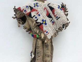 Old Vintage Native American Beaded Doll