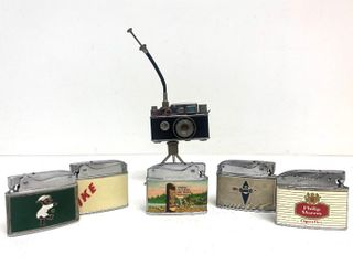Nice Group of Vintage Cigarette Lighters - Advertising etc.