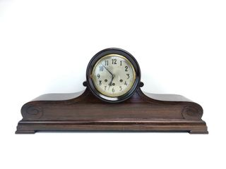 LARGE antique Signed GUSTAV BECKER German Mantel Clock