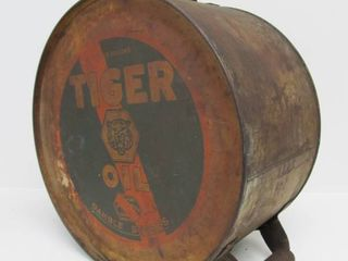 Orig 1920's Gambles TIGER Motor Oil Rocker Can