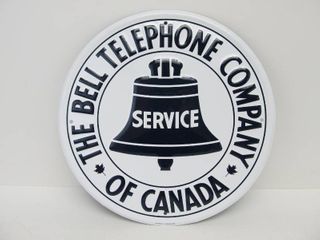 NOS Vintage Embossed Tin BELL SERVICE Telephone Sign