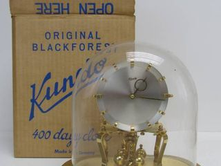 Excellent Vintage KUNDO Black Forest 400 Hundred Day Anniversary Clock w/Original Box