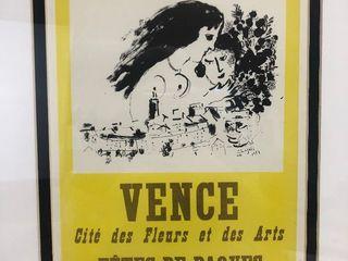 "Original Marc Chagall Lithograph on Paper = ""Vence, Fetes De Paques"""