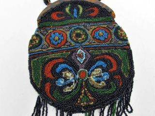 Beautiful Large Antique Beaded Purse w/Bakelite Closure