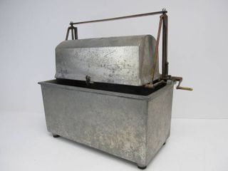 Awesome Original 1930's CLARK Salesman Sample Casket Lowering Burial System