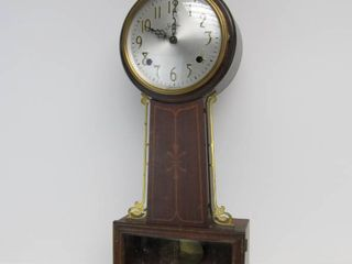 "Antique SESSIONS ""Somerset"" Wall Clock w/Eagle Finial"