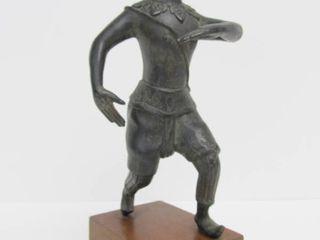 Old Vintage Solid Bronze Figural Statue