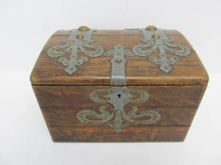 Antique Oak Civil War Era Storage Box