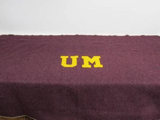 Vintage 1940's Era University of Minnesota Wool Stadium Blanket