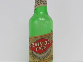 "Scarce Vintage 1940's GRAIN BELT Green ""Bottle Shortage"" Beer Bottle"