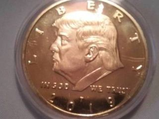 Donald Trump Gold colored coin