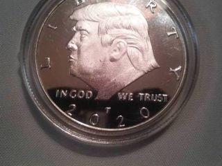 Donald Trump 2020 silver colored Coin.