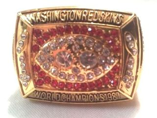 Washington Redskins Super Bowl ring. Dexter Manley
