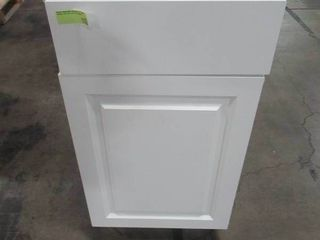 Hampton Bay Benton Assembled 18x34.5x24.5 in. Base Cabinet with Soft Close Full Extension Drawer in White BT1835B-WH
