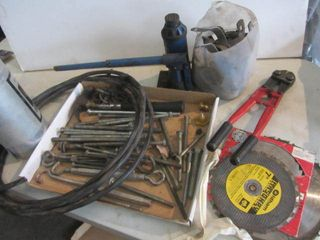 Bolt Cutter, Lag Bolts, Wire