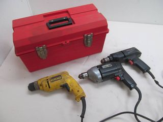 red tuff box, drills