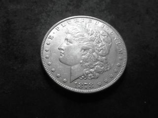 1878 7 Over 8 Tail Feathers Morgan Silver Dollar (Double Die)