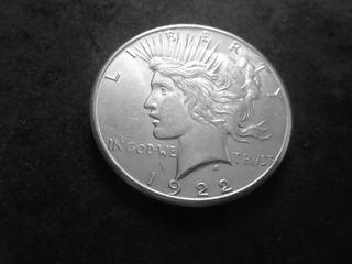 1922 S Silver Peace Dollar