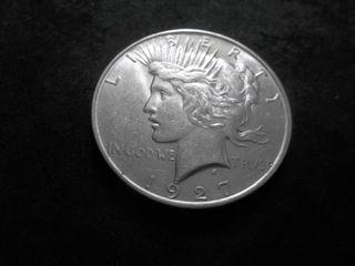 1927 D Silver Peace Dollar
