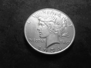 1934 Silver Peace Dollar