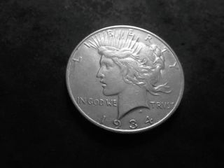 1934 D Silver Peace Dollar