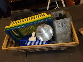 Storage Containers  With Wicker Basket