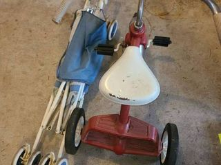 Tricycle and stroller