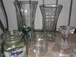 Glass Vases and Candle Holders