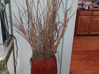 Metal Vase and Twisted Branch Decor Vase 23 x 12 x 10 in