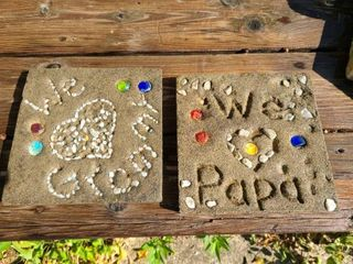 We love Grammy and Papa Stepping Stones 8 x 8 in