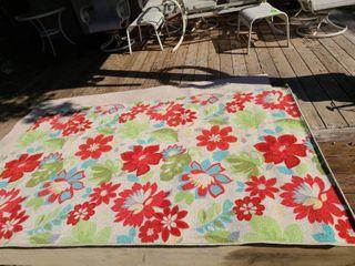 Mohawk Home Indoor or Outdoor Floral Rug 60 x 96 in