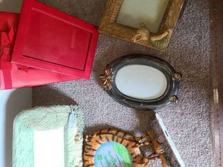 Picture Frames  Glass Oval Shaped Winnie the Pooh Tiger and Fish and a few Miscellaneous