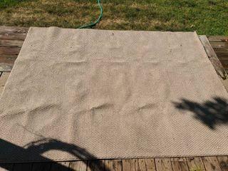Tan Indoor or Outdoor Rug 72 x 96 in