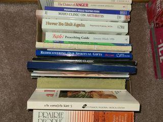 Assorted Books  Medical  Spiritual Various