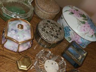 Various Porcelain Boxes  Most have lids