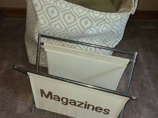 Collapsible laundry Basket and Magazine Rack