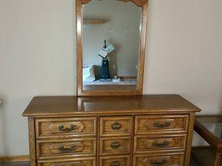 9 Drawer Dresser with Mirror  79  x 62  x 19