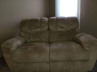 BERKlINE love Seat with Recliners  Beige in color